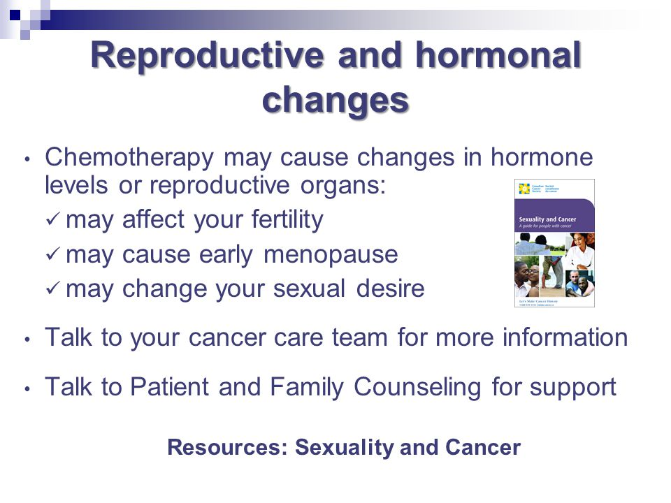 Reproductive and hormonal changes