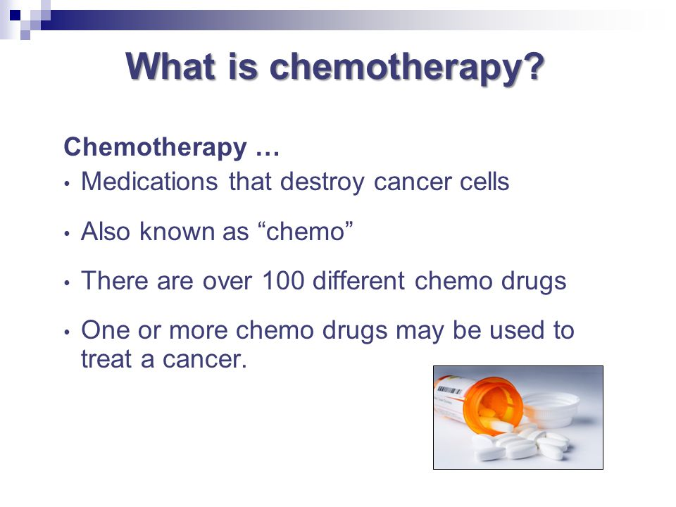 What is chemotherapy Chemotherapy …