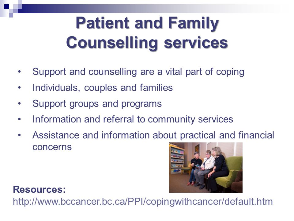 Patient and Family Counselling services