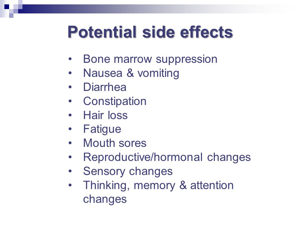 Potential side effects