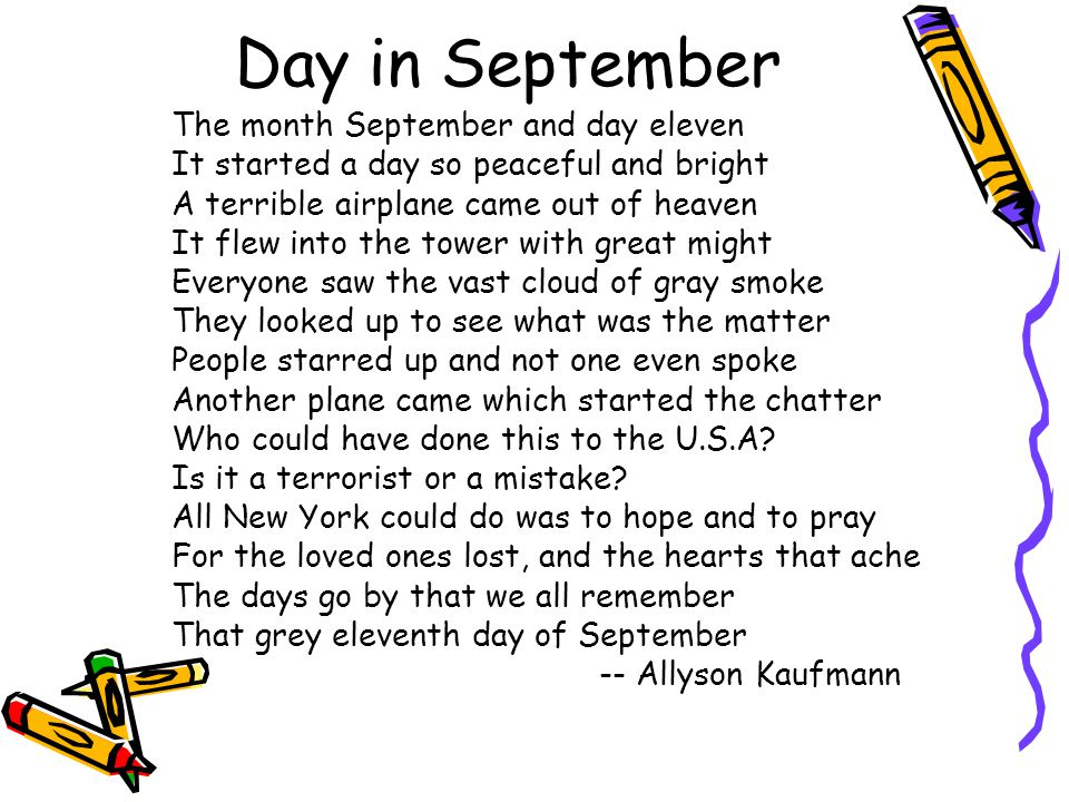 Day in September The month September and day eleven