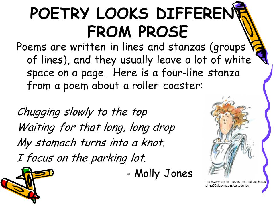 POETRY LOOKS DIFFERENT FROM PROSE