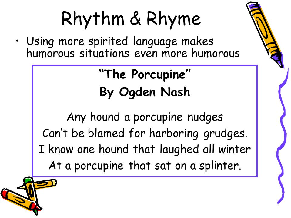 Rhythm & Rhyme The Porcupine By Ogden Nash