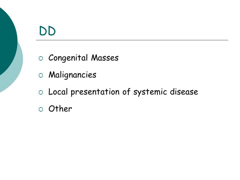 DD Congenital Masses Malignancies