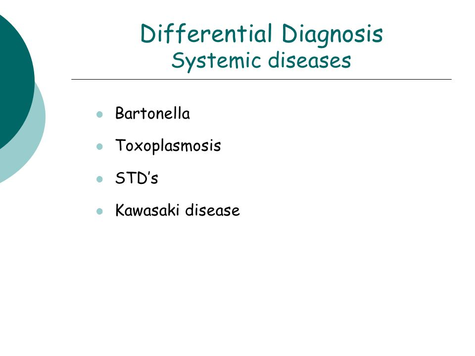 Differential Diagnosis Systemic diseases