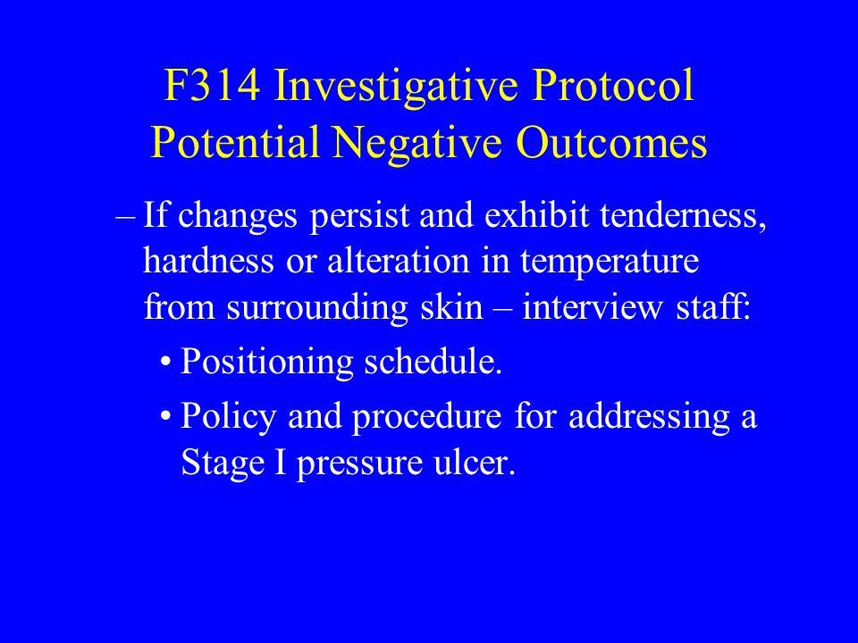 F314 Investigative Protocol Potential Negative Outcomes
