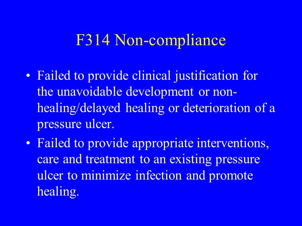 F314 Non-compliance