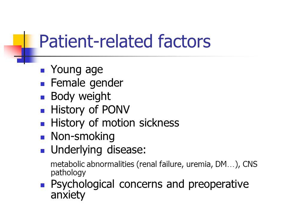 Patient-related factors