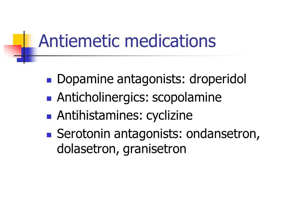Antiemetic medications