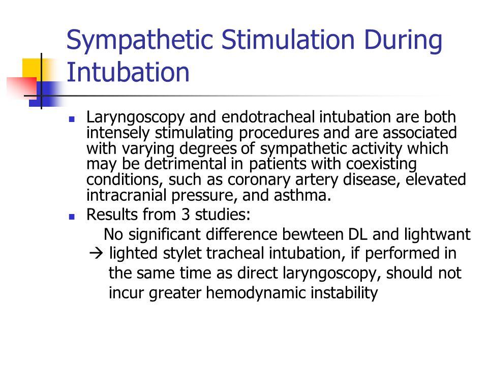 Sympathetic Stimulation During Intubation