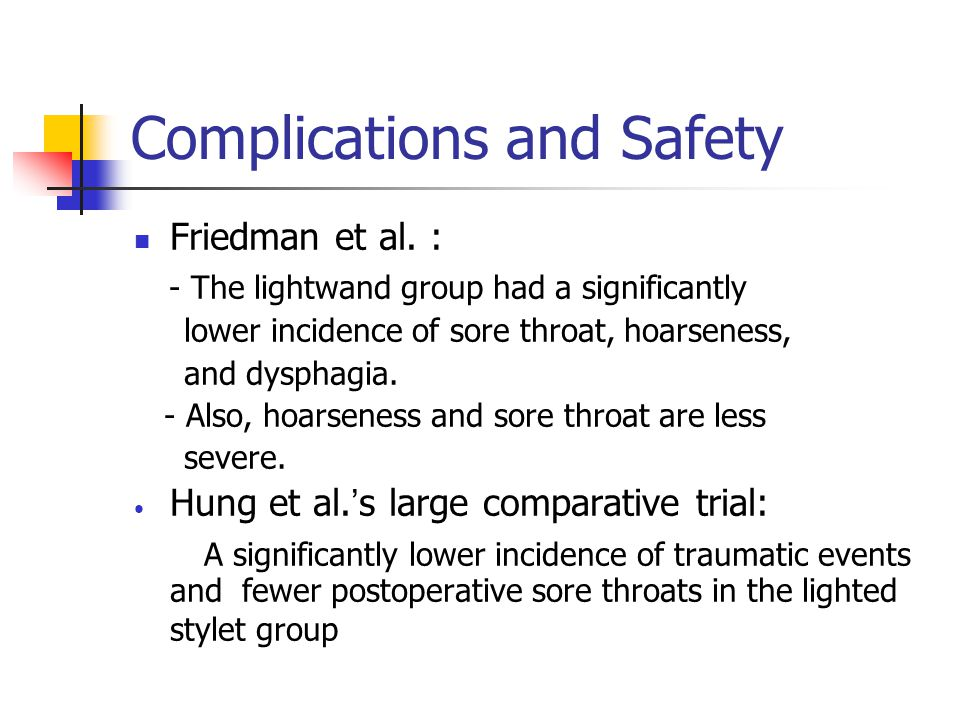 Complications and Safety