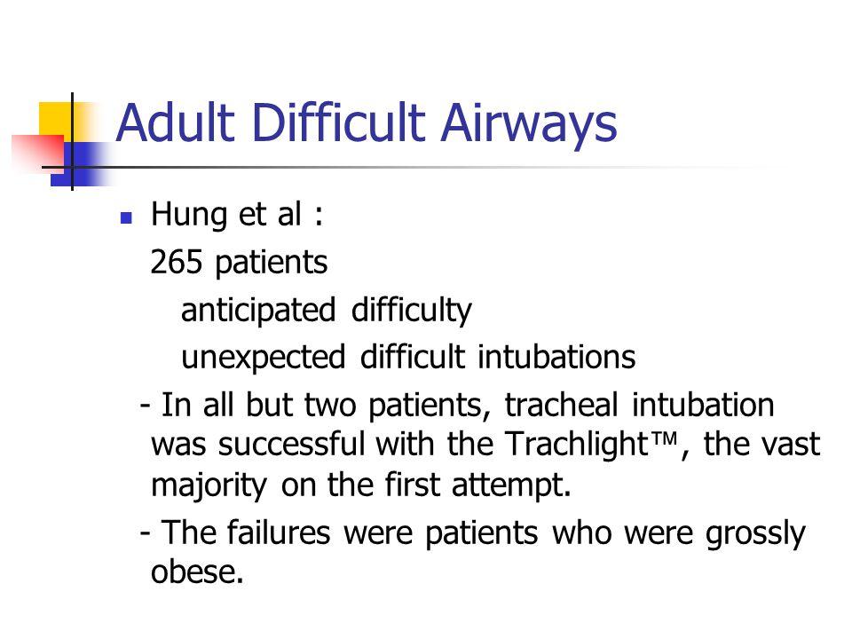 Adult Difficult Airways