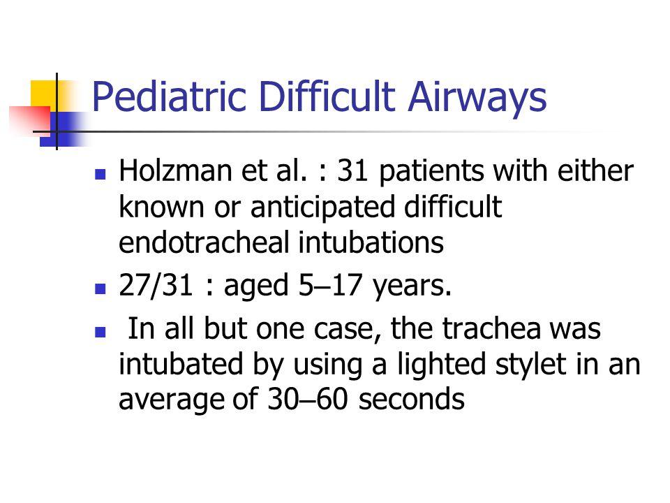 Pediatric Difficult Airways