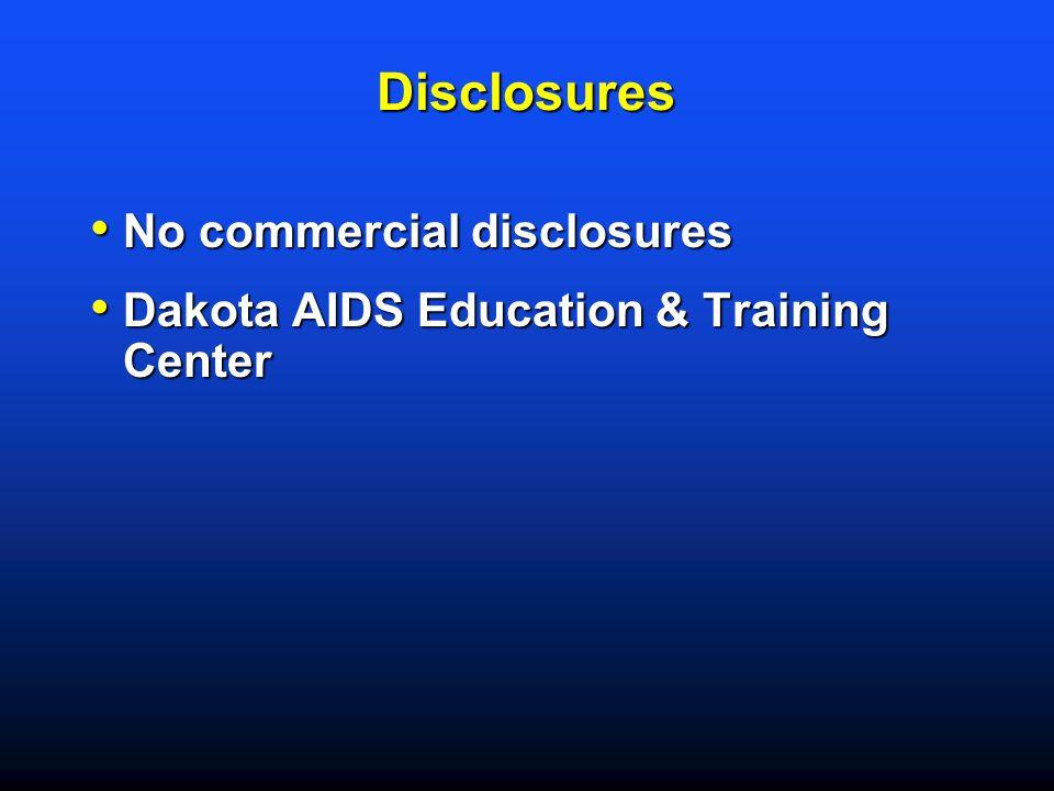 Disclosures No commercial disclosures