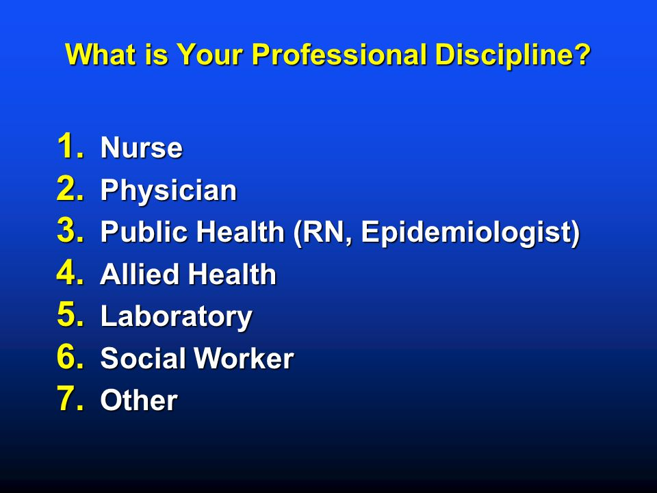 What is Your Professional Discipline