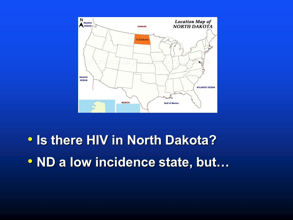Is there HIV in North Dakota