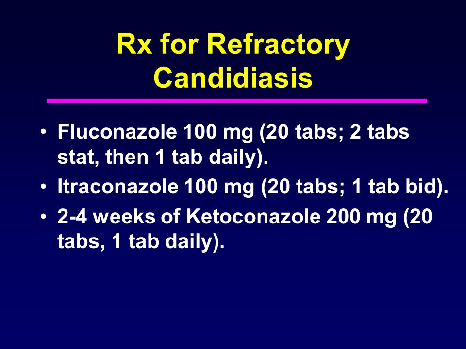 Rx for Refractory Candidiasis
