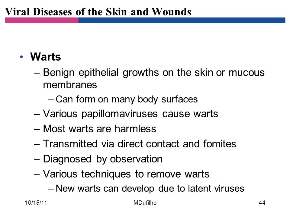 Viral Diseases of the Skin and Wounds