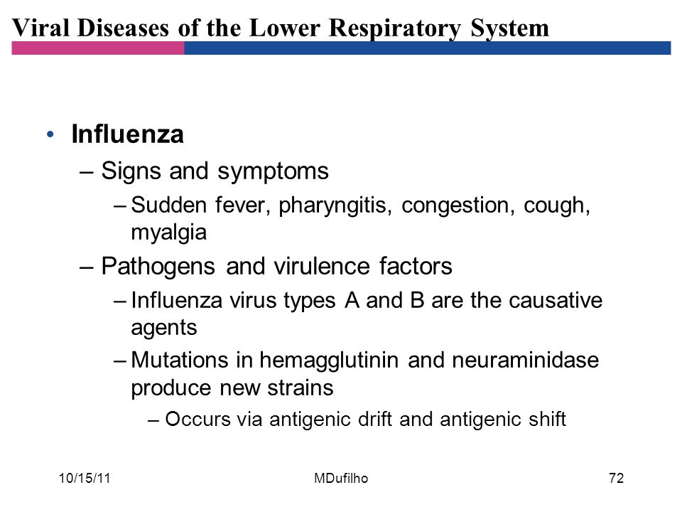 Viral Diseases of the Lower Respiratory System