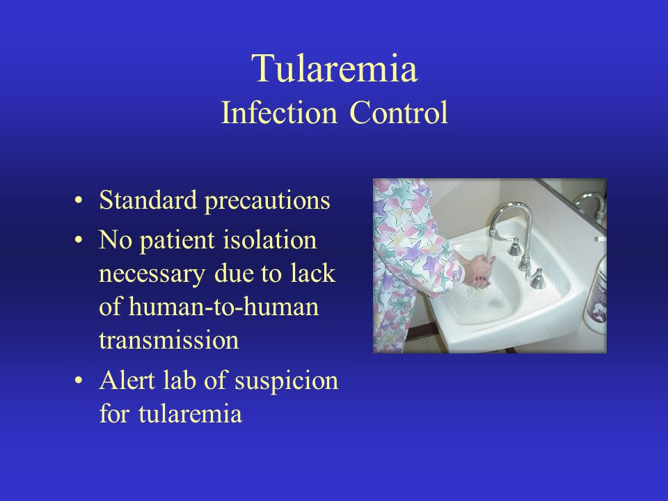 Tularemia Infection Control