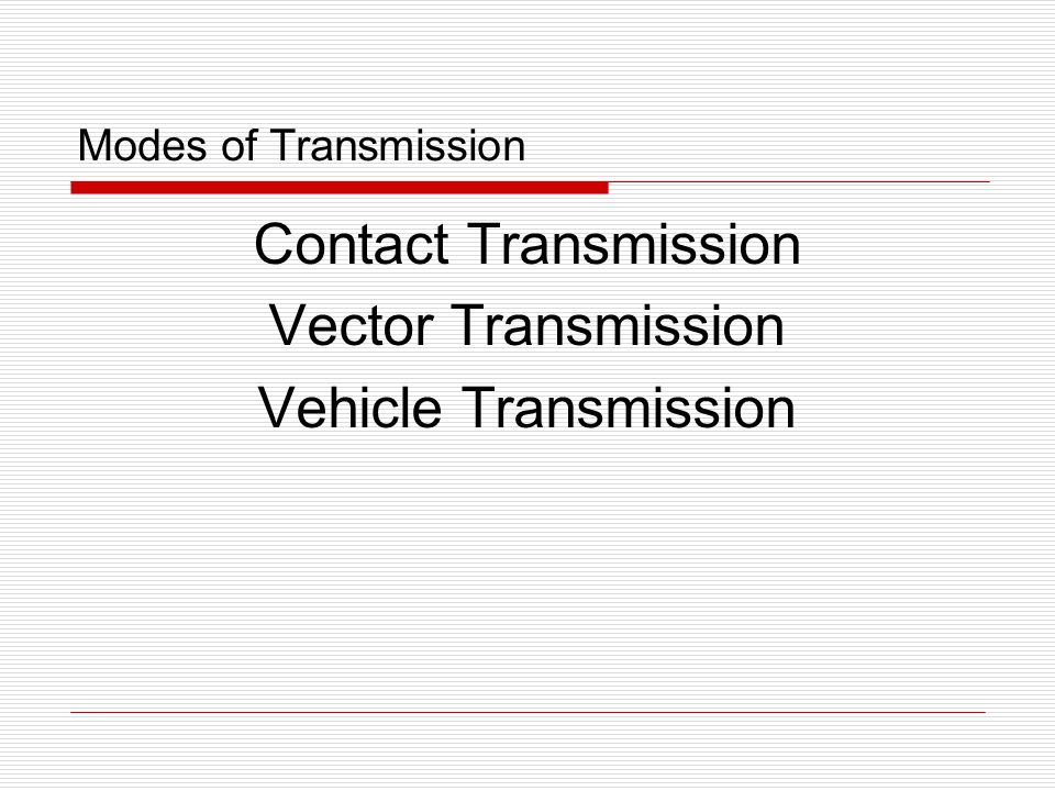 Contact Transmission Vector Transmission Vehicle Transmission