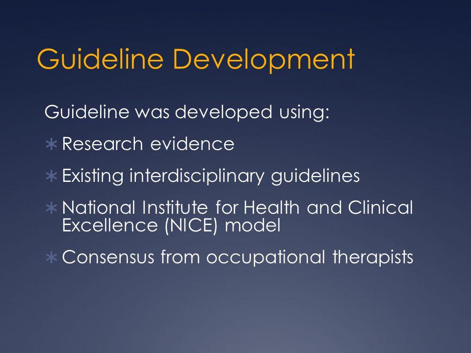 Guideline Development