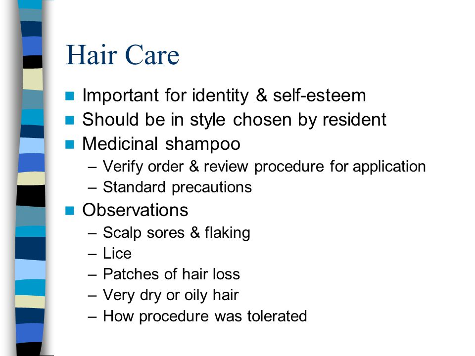 Hair Care Important for identity & self-esteem