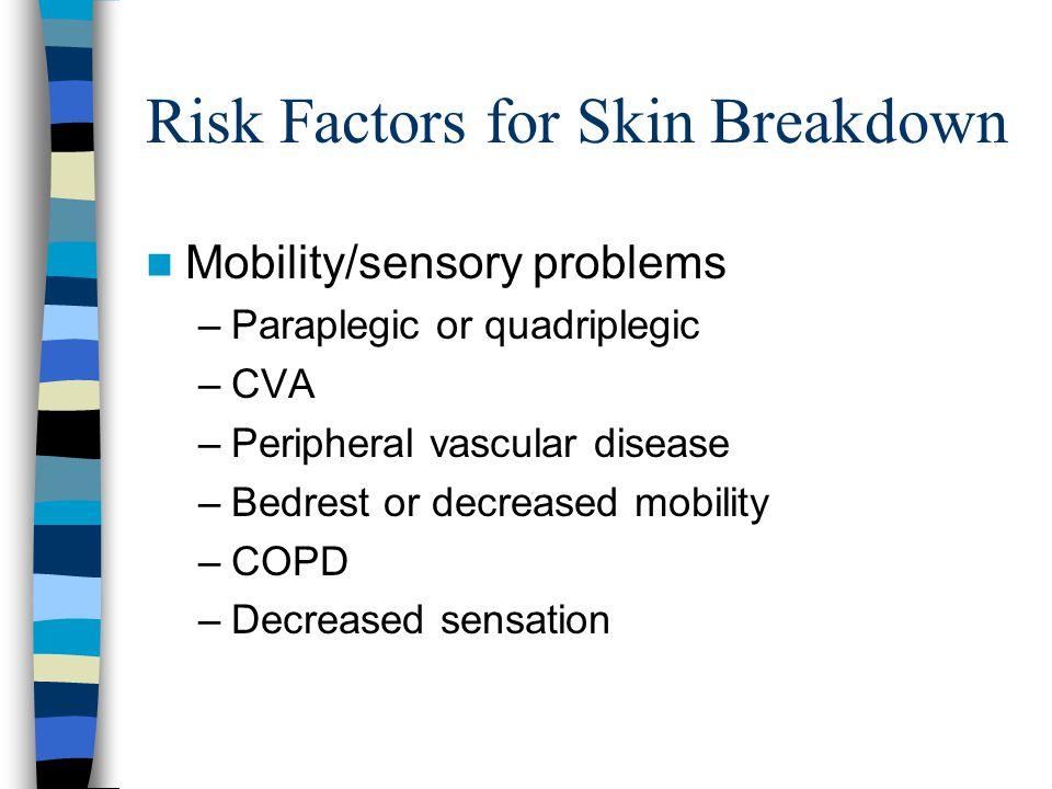 Risk Factors for Skin Breakdown