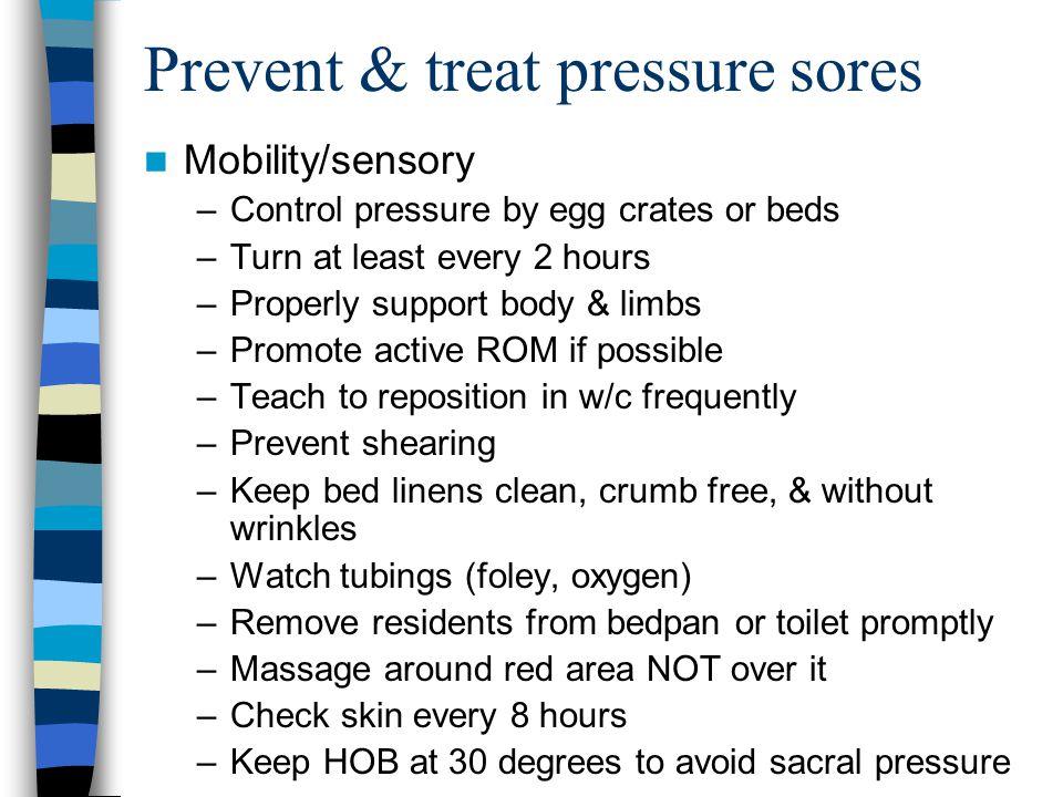 Prevent & treat pressure sores