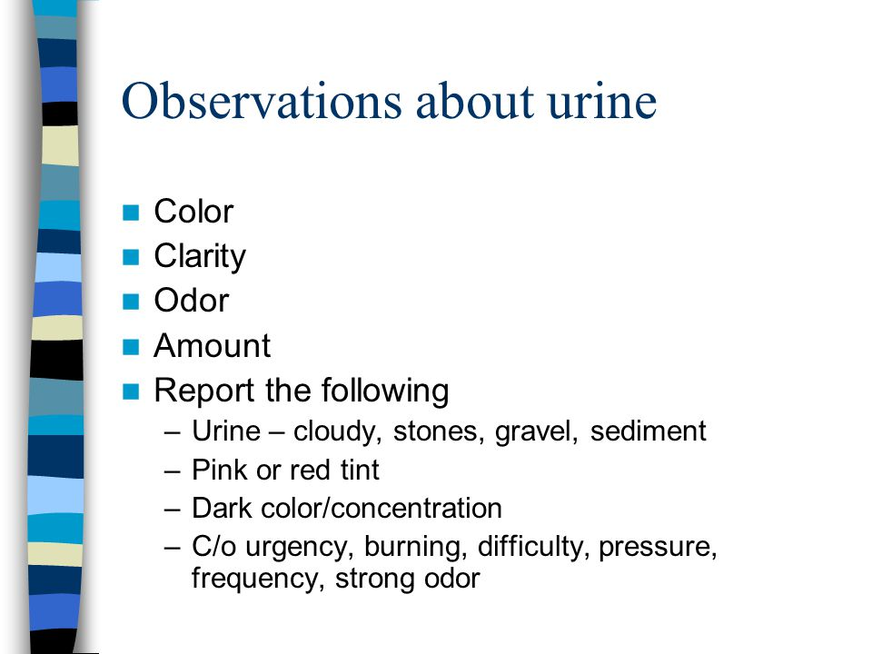 Observations about urine