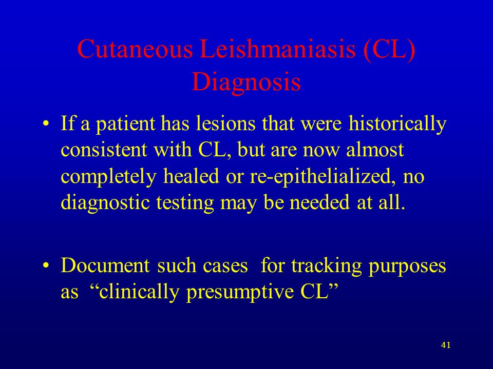 Cutaneous Leishmaniasis (CL) Diagnosis