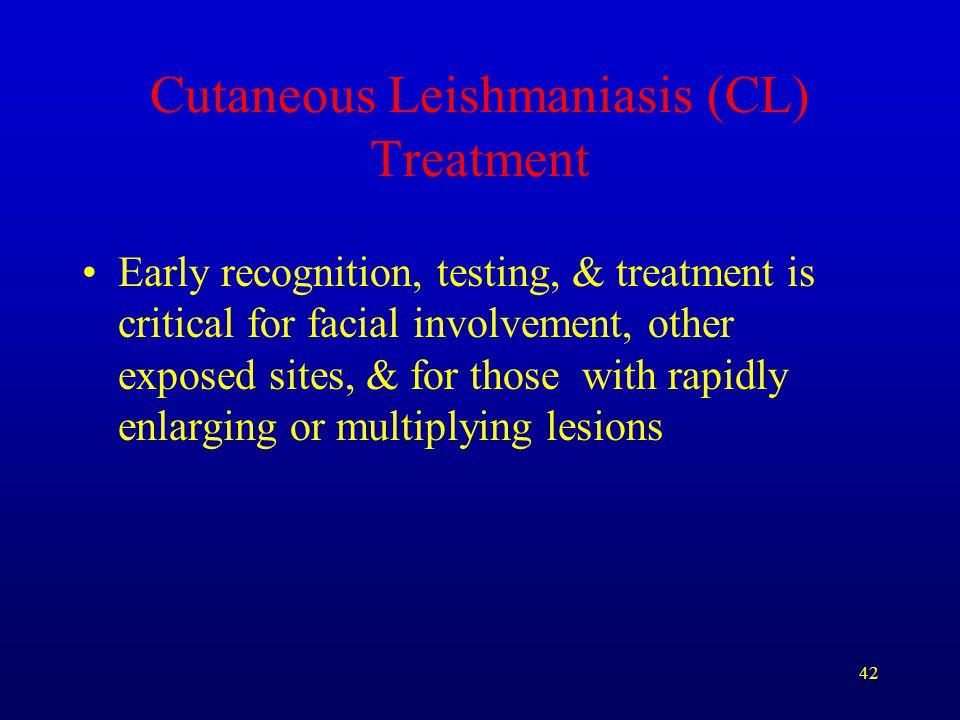 Cutaneous Leishmaniasis (CL) Treatment