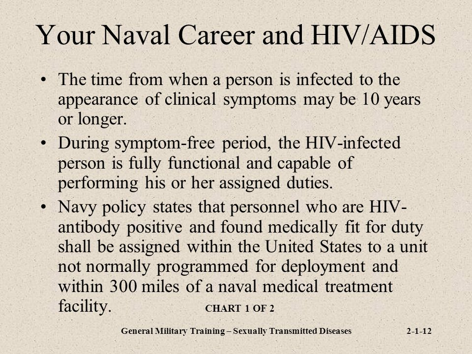 Your Naval Career and HIV/AIDS