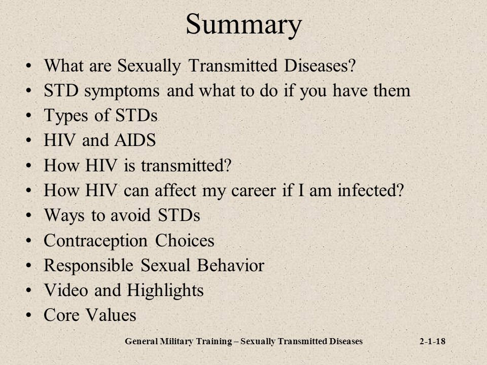 General Military Training – Sexually Transmitted Diseases