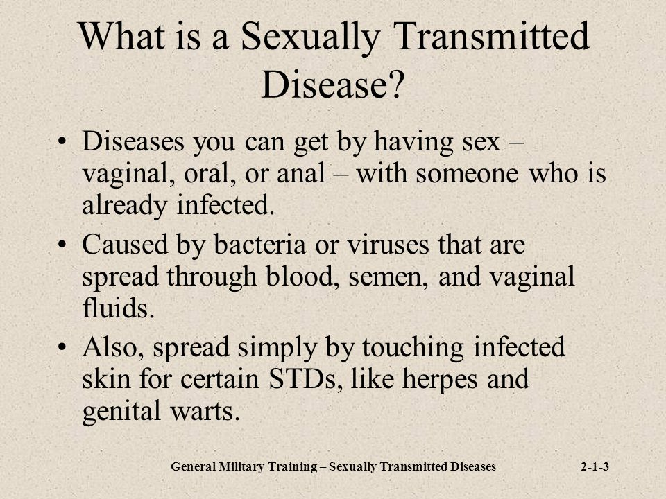 What is a Sexually Transmitted Disease