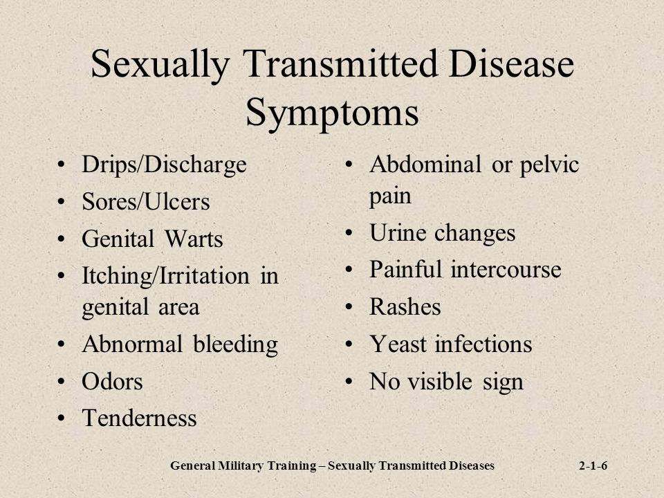 Sexually Transmitted Disease Symptoms