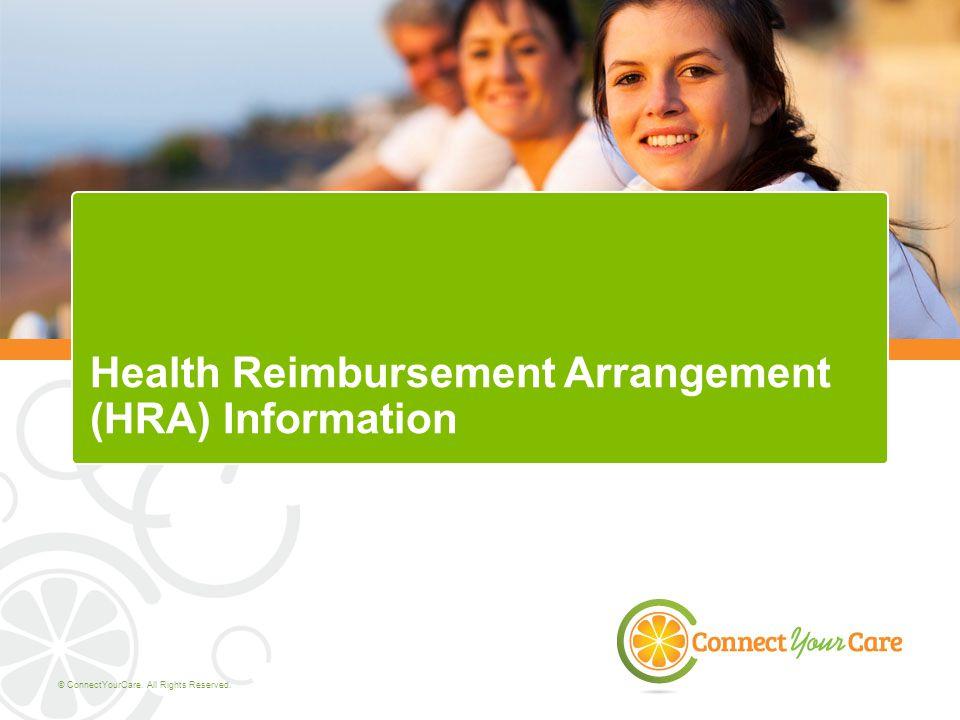 Health Reimbursement Arrangement (HRA) Information