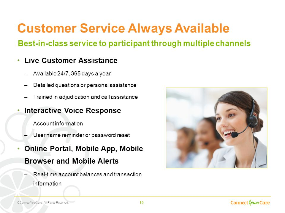 Customer Service Always Available
