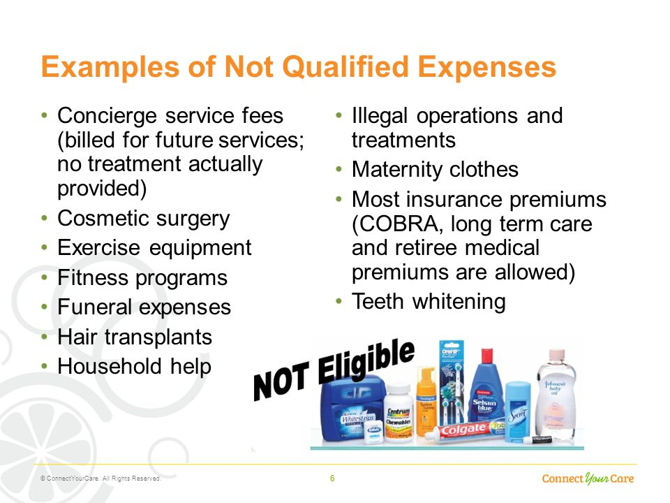 Examples of Not Qualified Expenses