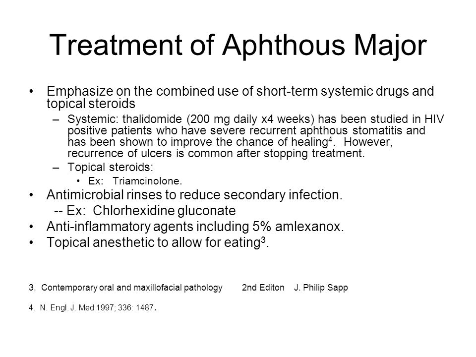 Treatment of Aphthous Major