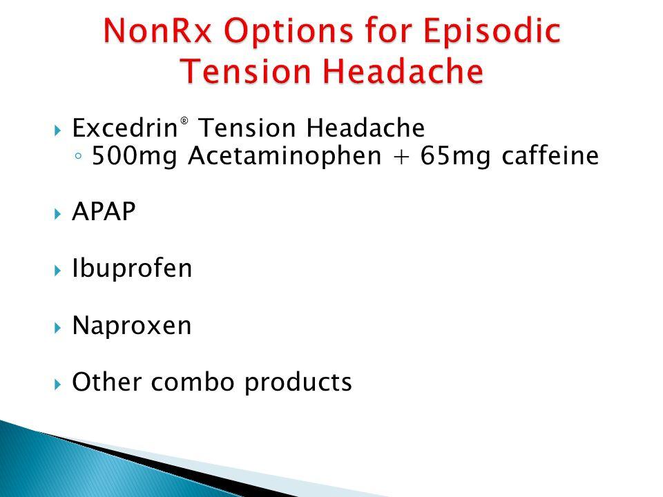 NonRx Options for Episodic Tension Headache