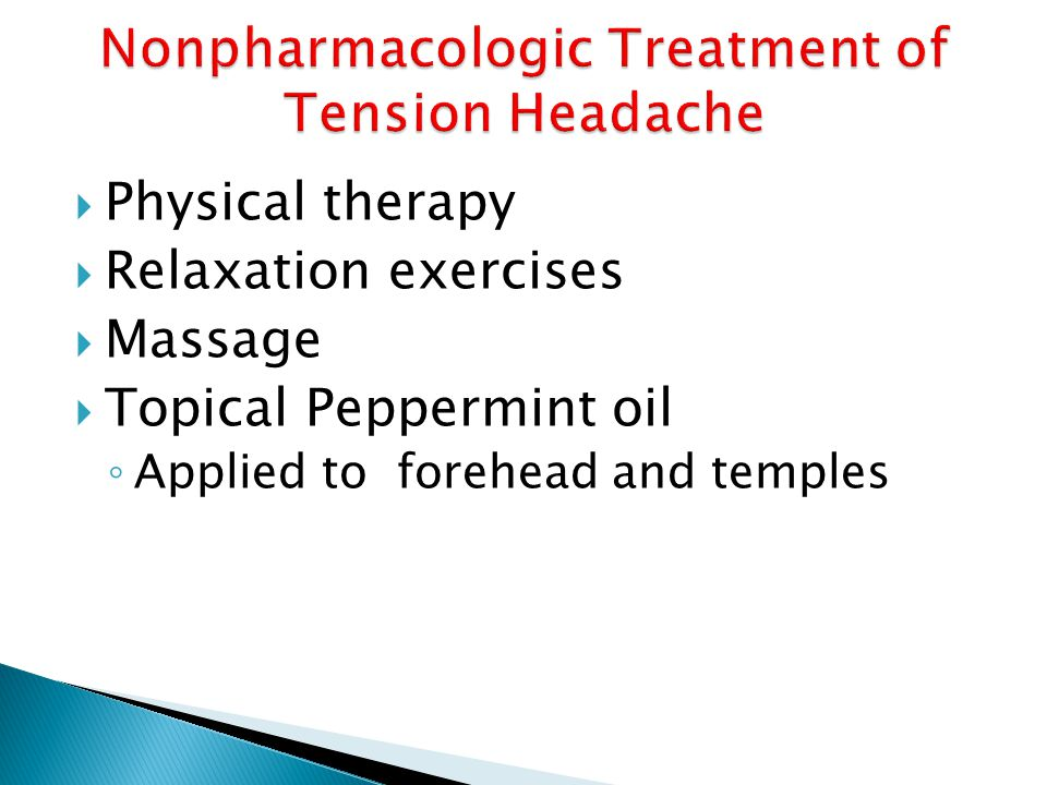 Nonpharmacologic Treatment of Tension Headache