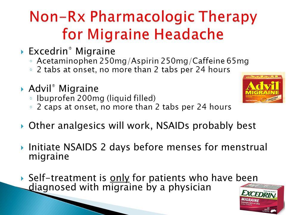 Non-Rx Pharmacologic Therapy for Migraine Headache