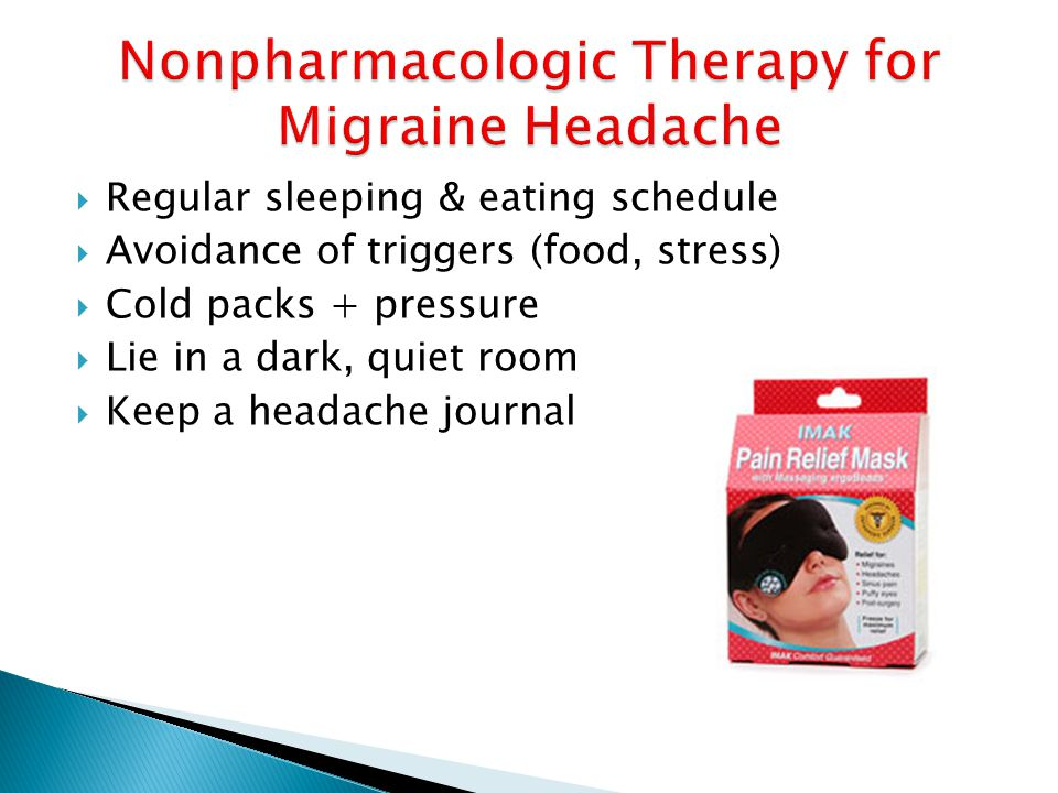 Nonpharmacologic Therapy for Migraine Headache