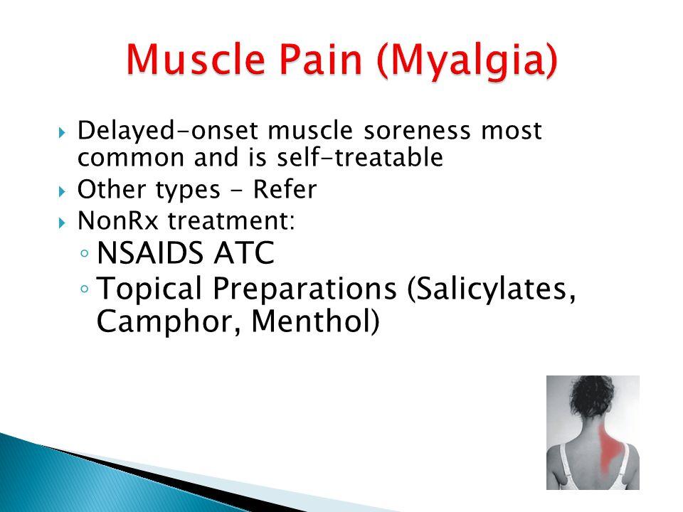 Muscle Pain (Myalgia) NSAIDS ATC