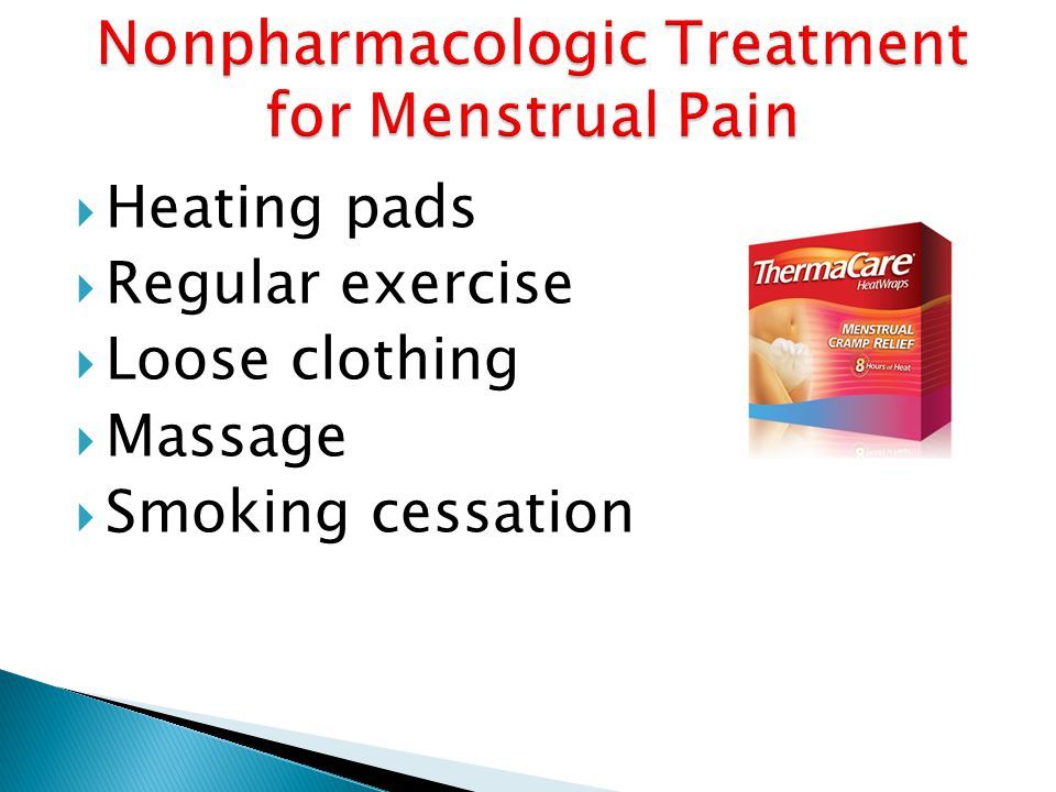 Nonpharmacologic Treatment for Menstrual Pain