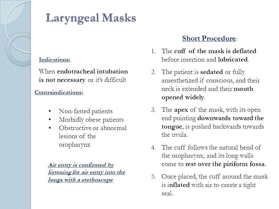 Laryngeal Masks Short Procedure: