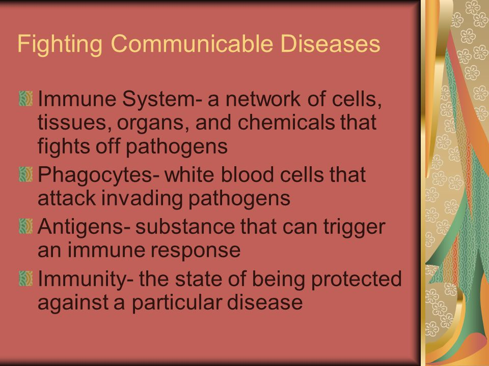 Fighting Communicable Diseases