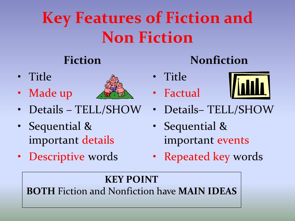Key Features of Fiction and Non Fiction