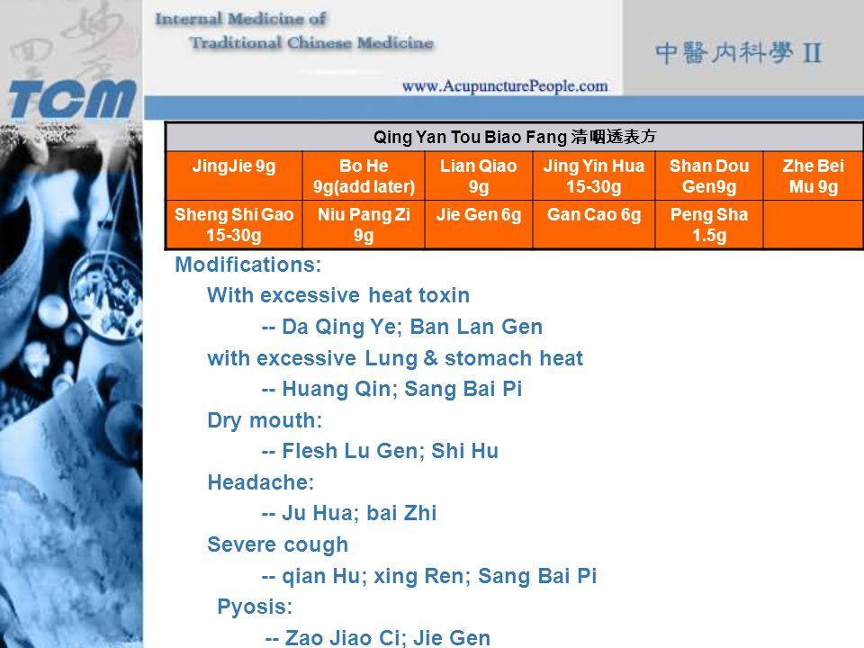 Qing Yan Tou Biao Fang 清咽透表方